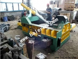Y81T-1600 integral structure scrap metal baler use in Chile